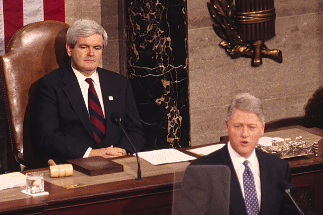 Newt Gingrich Bill Clinton
