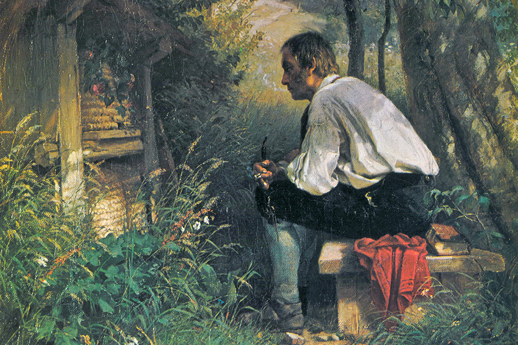Telling the bees painting