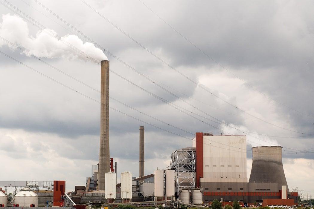 Factories Emitting Pollution