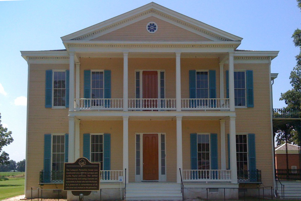 Lakeport Plantation, c. 1859 and built south of Lake Village, is the only remaining antebellum plantation house on the Mississippi River in Arkansas.
