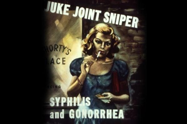 U.S. World War II anti-venereal disease poster