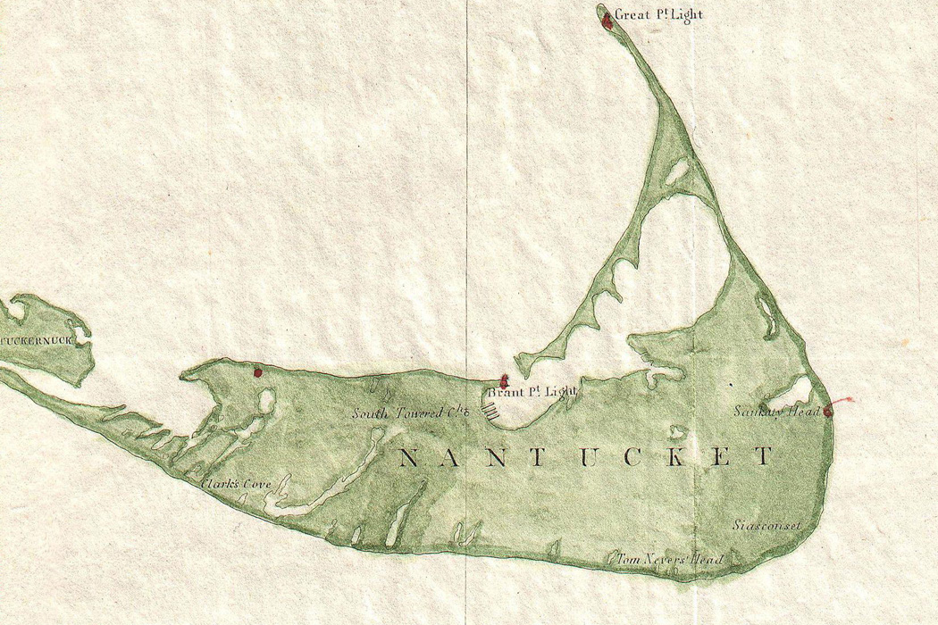 Detail from an 1846 map of Nantucket