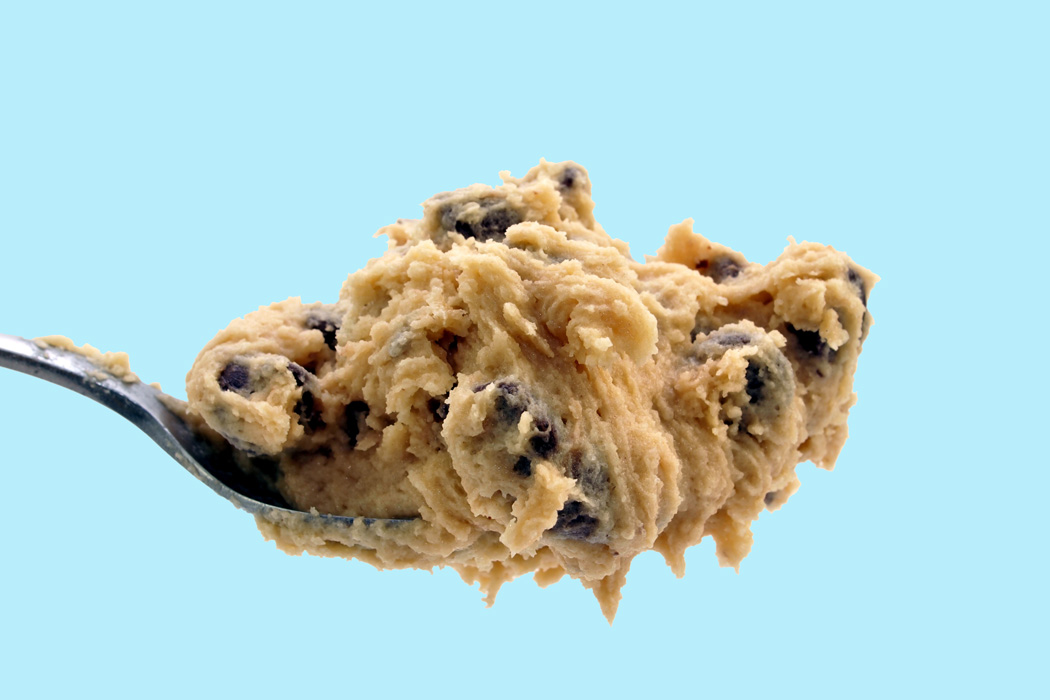 A spoonful of cookie dough
