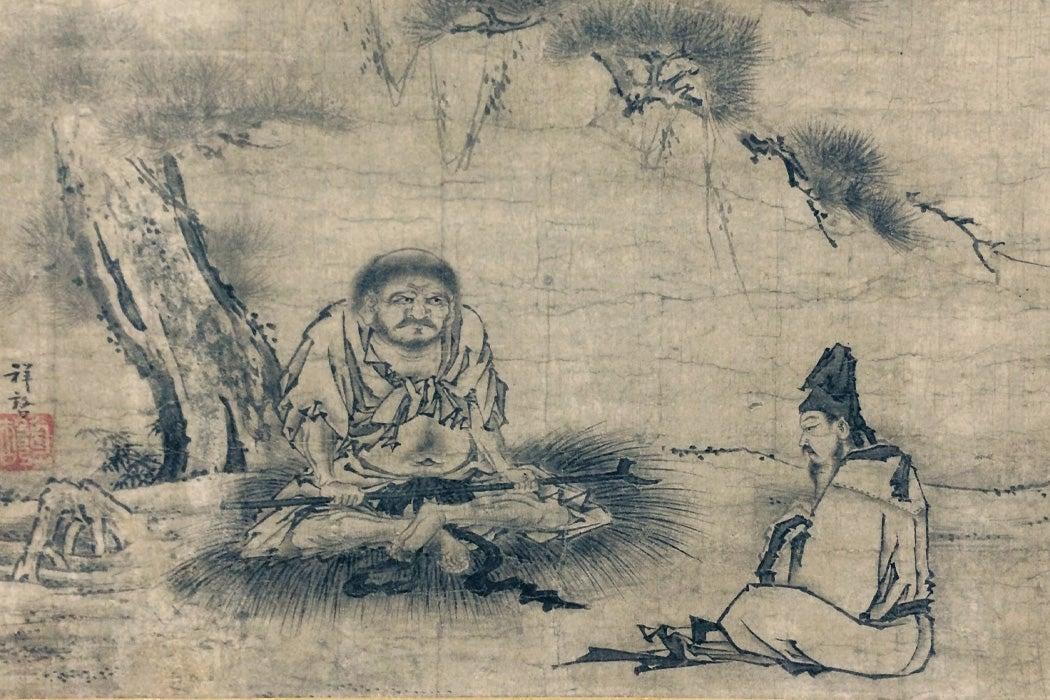 Zen Encounter (Niaoke Daolin and Bai Juyi)