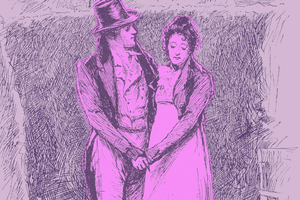Mr. Knightley and Emma Woodhouse, from Jane Austen's Emma