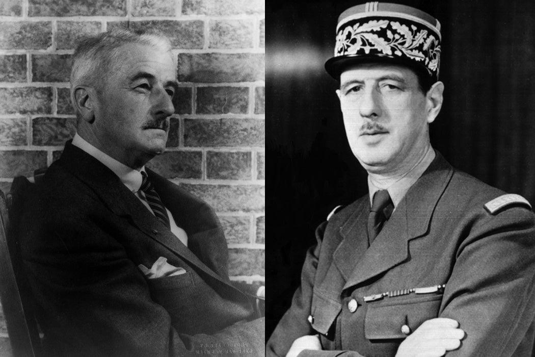 William Faulkner and Charles De Gaulle