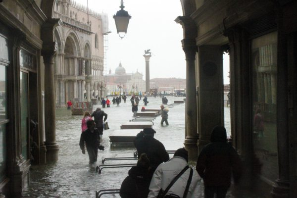A flood in St Mark's Square in Venice