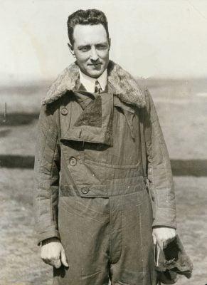 Richard Byrd in flight jacket, 1920s