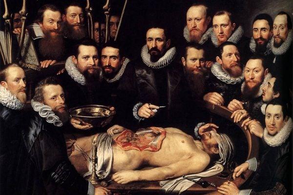 Anatomy Lesson of Dr. Willem van der Meer by Michiel van Mierevelt