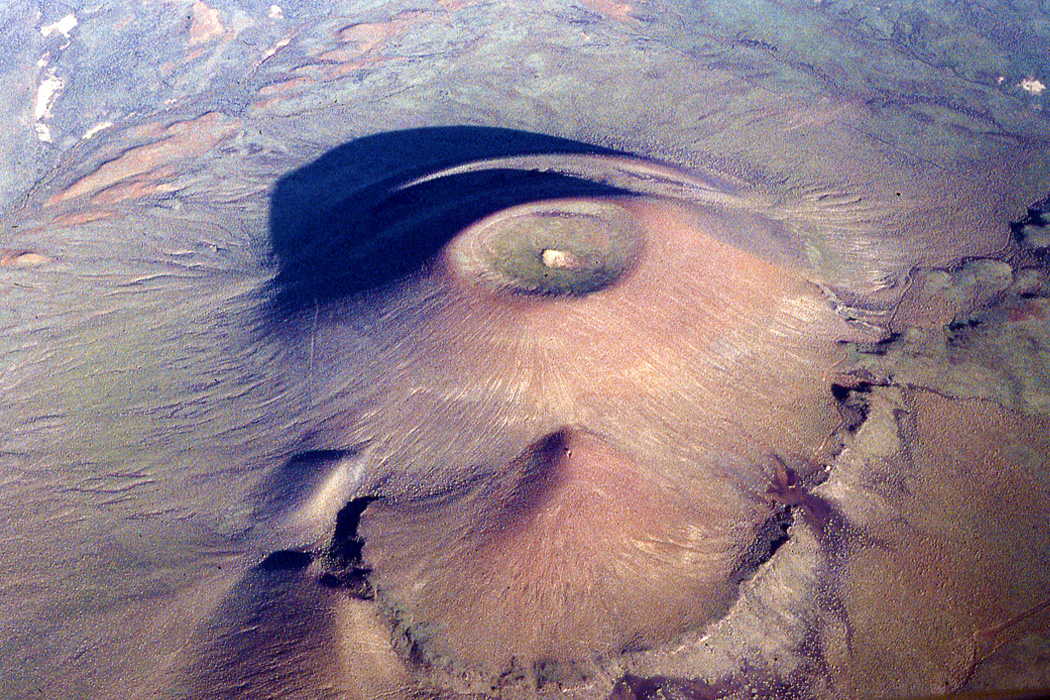 An aerial view of Roden Crater