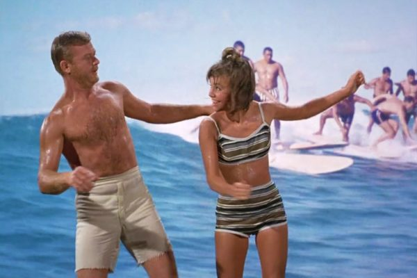 Martin Milner and Sally Field in Gidget
