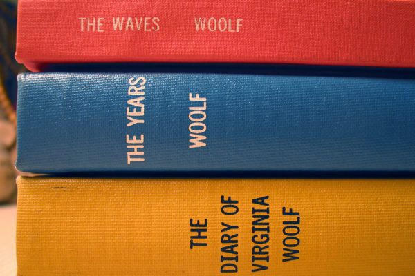A stack of books by Virginia Woolf