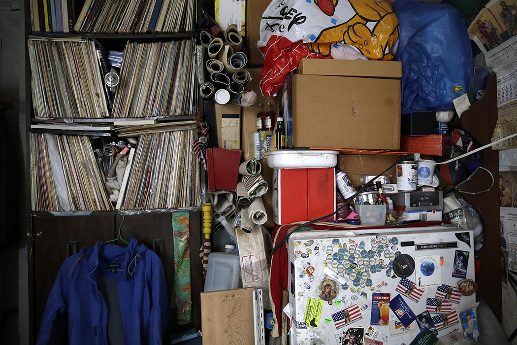 The apartment of a hoarder in New York