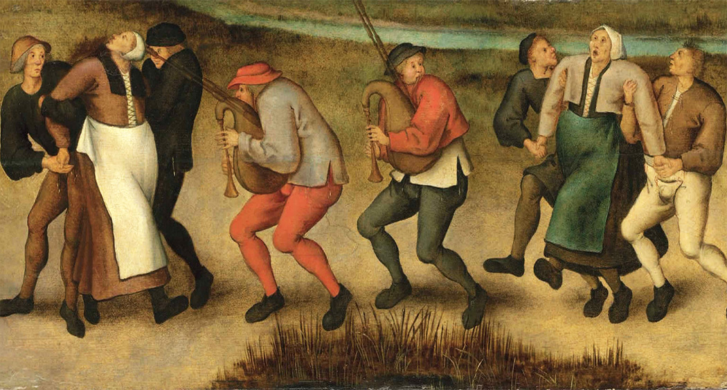 The Saint John's Dancers in Molenbeeck by Pieter Bruegel