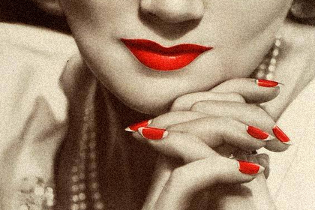 From a 1935 ad for Cutex nail polish and lipstick