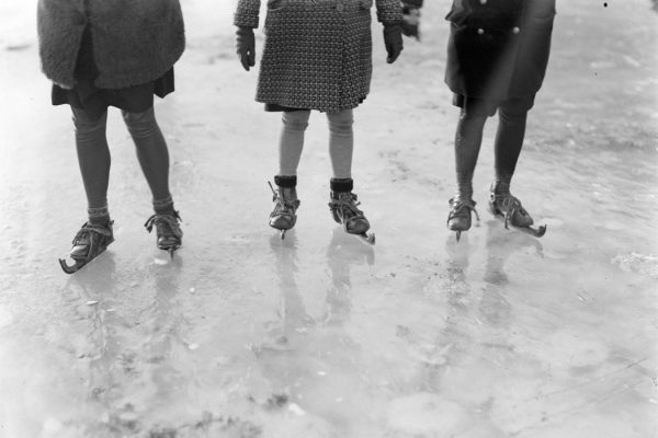 Ice skaters in the Netherlands