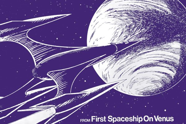 From an advertisement for a model kit tie in for the film The Silent Star, also released as First Spaceship on Venus