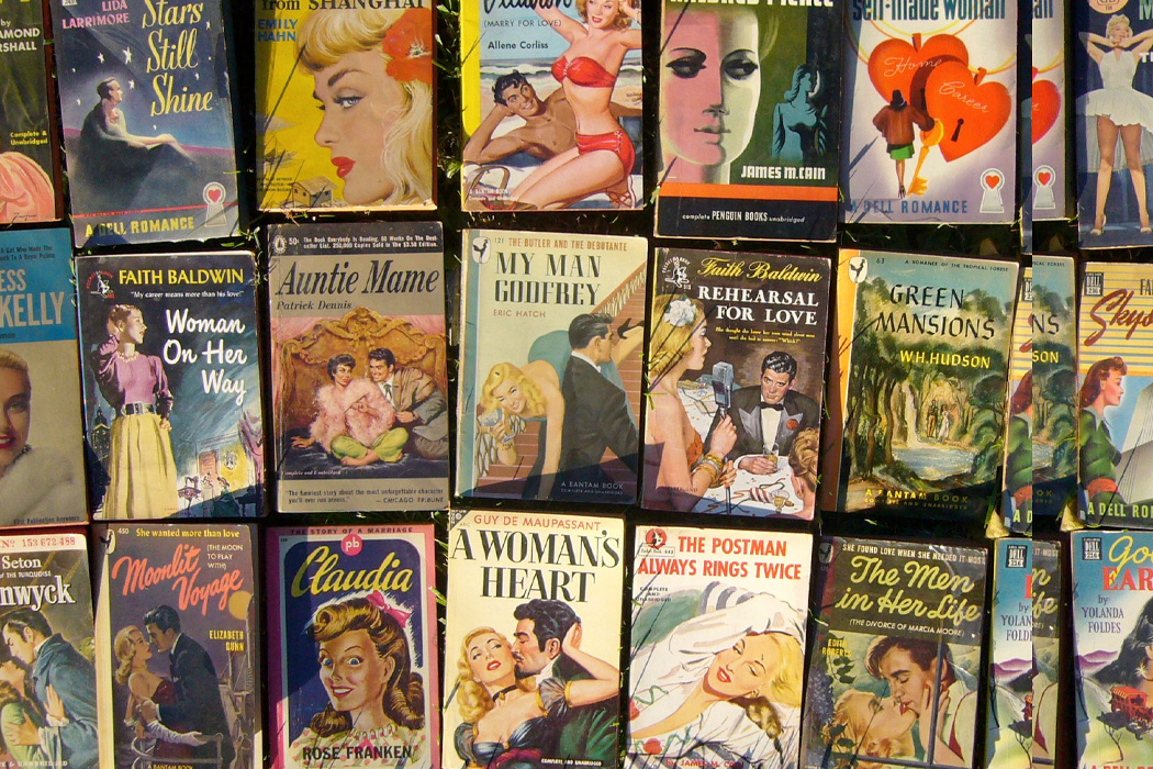 A collection of romance novels