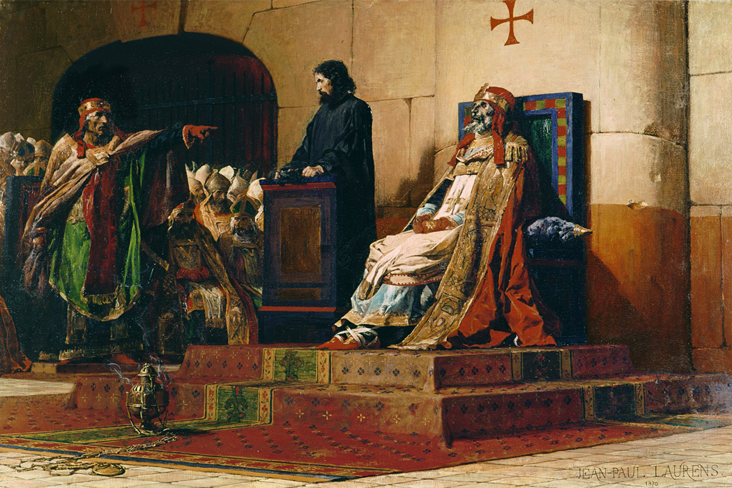 Pope Formosus and Stephen VI by Jean Paul Laurens, 1870