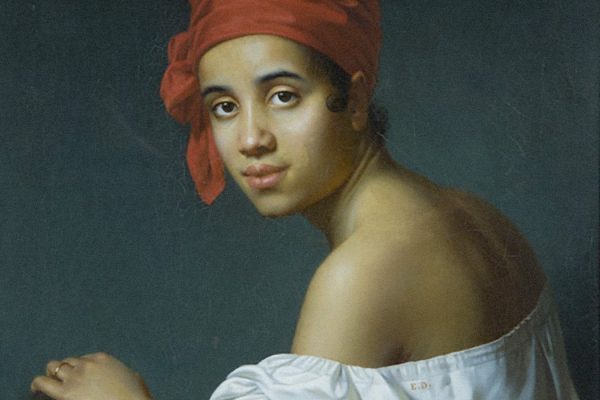 Creole in a Red Turban by Jacques Aman