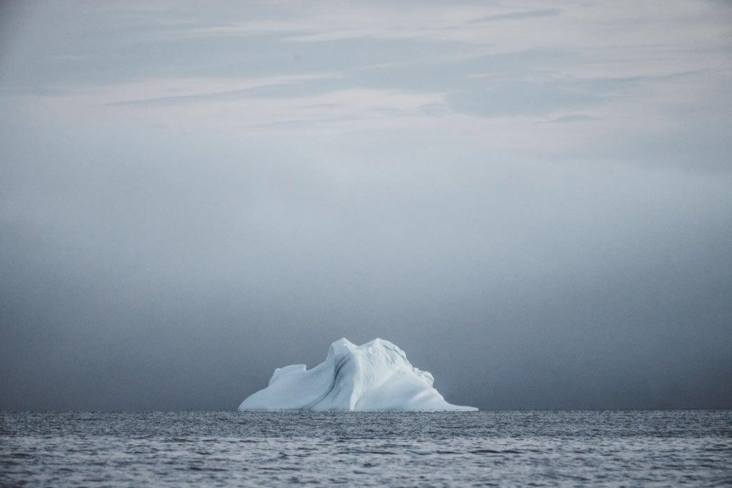 An iceberg in the ocean