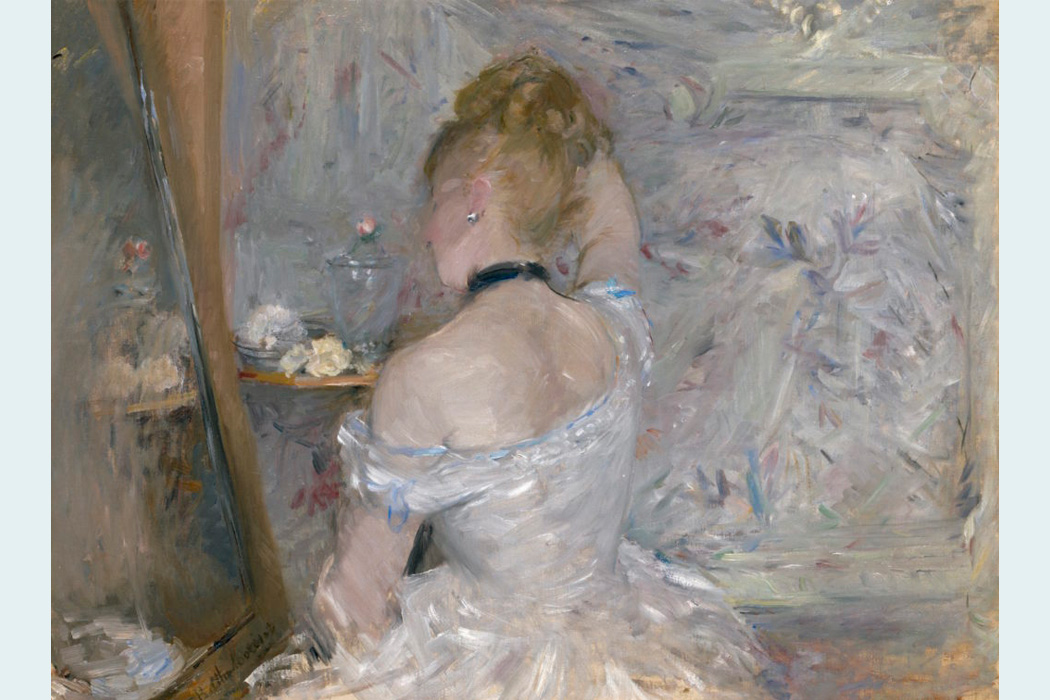 "Berthe Morisot, ""Woman at Her Toilette"""