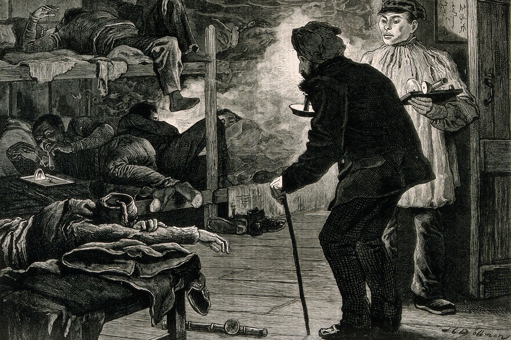 An opium den in London's East End