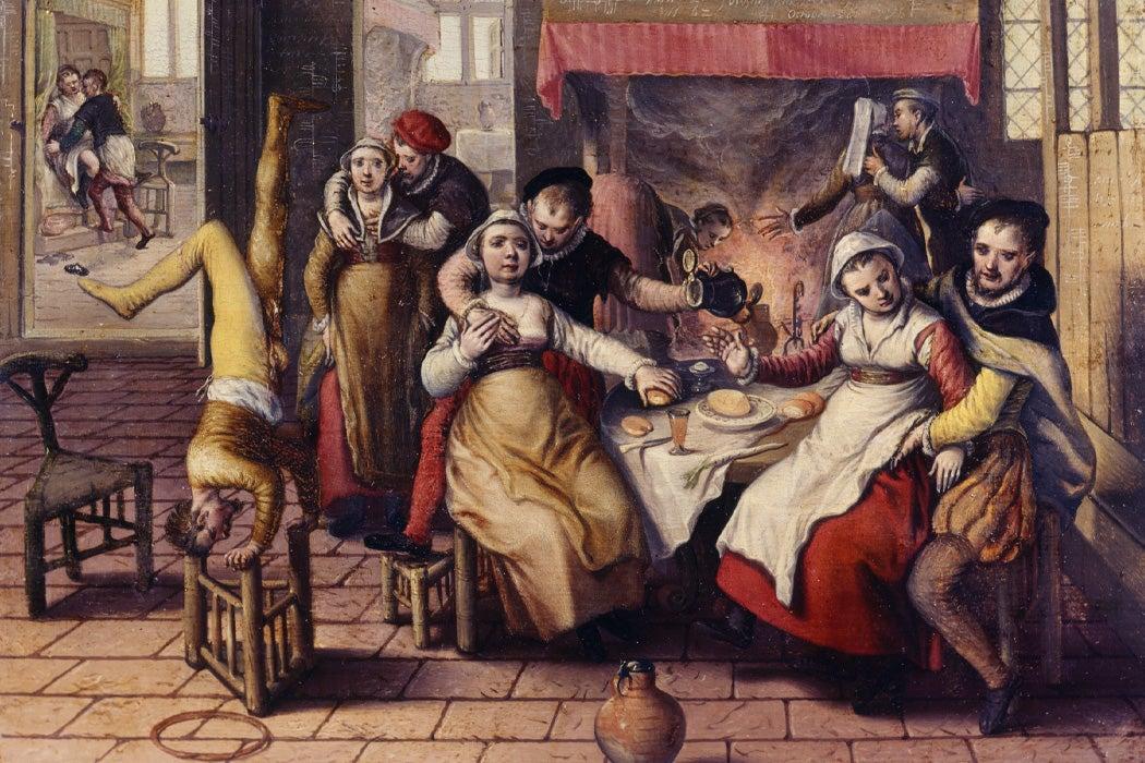 Brothel by Joachim Beuckelaer, 1562