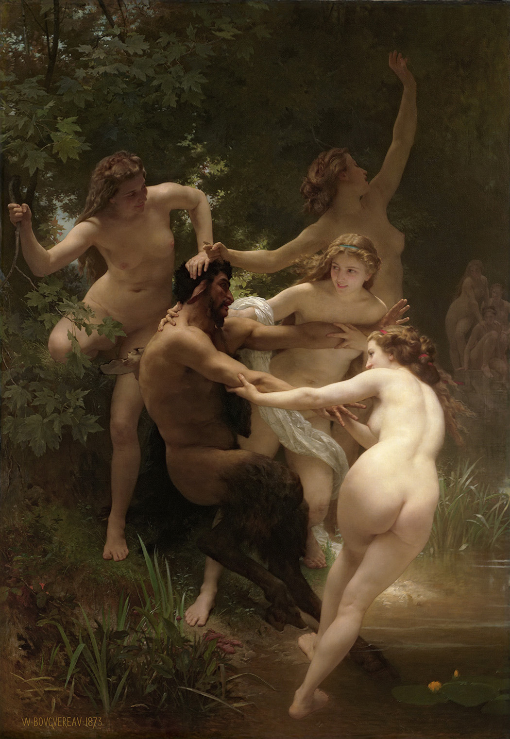 Nymphs and Satyr by William-Adolphe Bouguereau, 1873