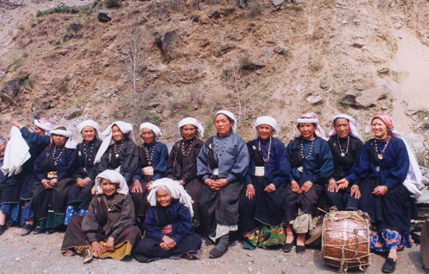 Surviving Members of the Original Reni Squad at the Chipko 30th Anniversary, 2004