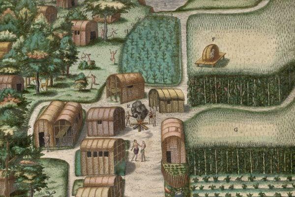 The Native American village of Secoton