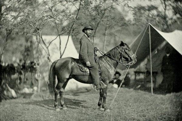 Allan Pinkerton at the camp at Antietam in September, 1862