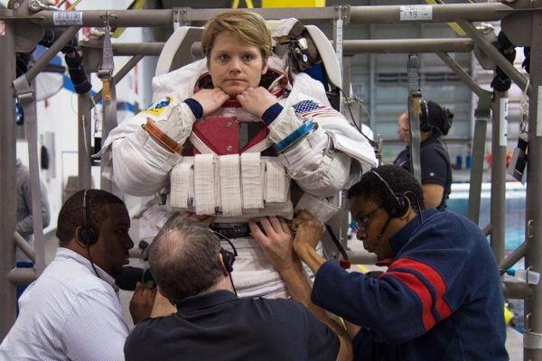 Astronauts Anne McClain during her ASCAN EVA Skills 3 Training. Photographer: Lauren Harnett
