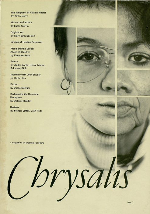 The cover of the first issue of Chrysalis Magazine