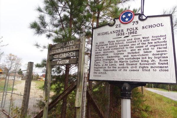 A sign for the Highlander Folk School
