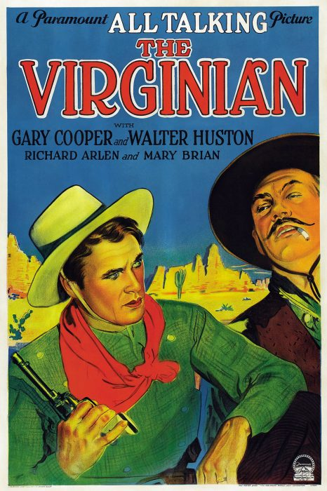 Film poster for The Virginian, a 1929 Western