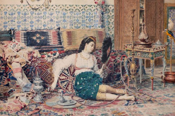 a Turkish harem interior
