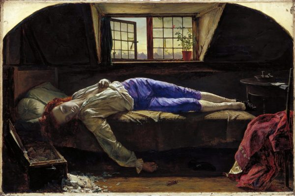 Chatterton by Henry Wallis, 1856