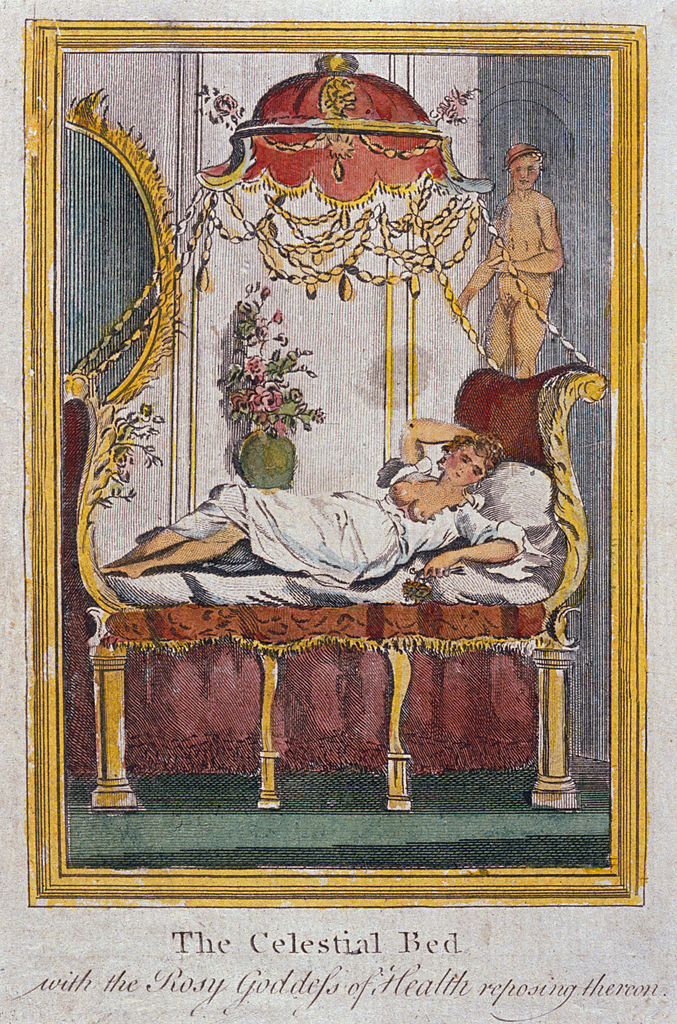 A depiction of James Graham's 'Celestial Bed'