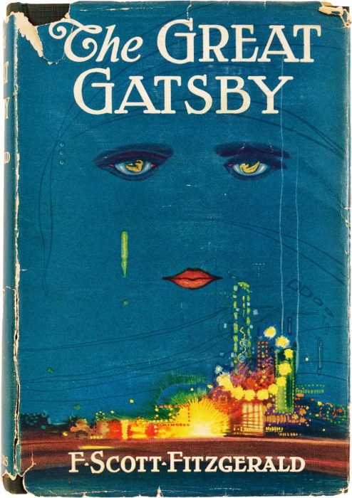 The cover of The Great Gatsby, 1925