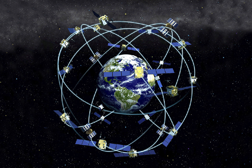 A constellation of satellites