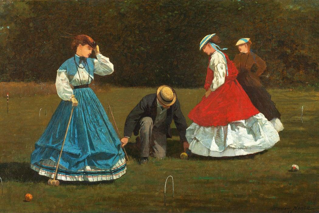 Croquet Scene by Winslow Homer, 1866