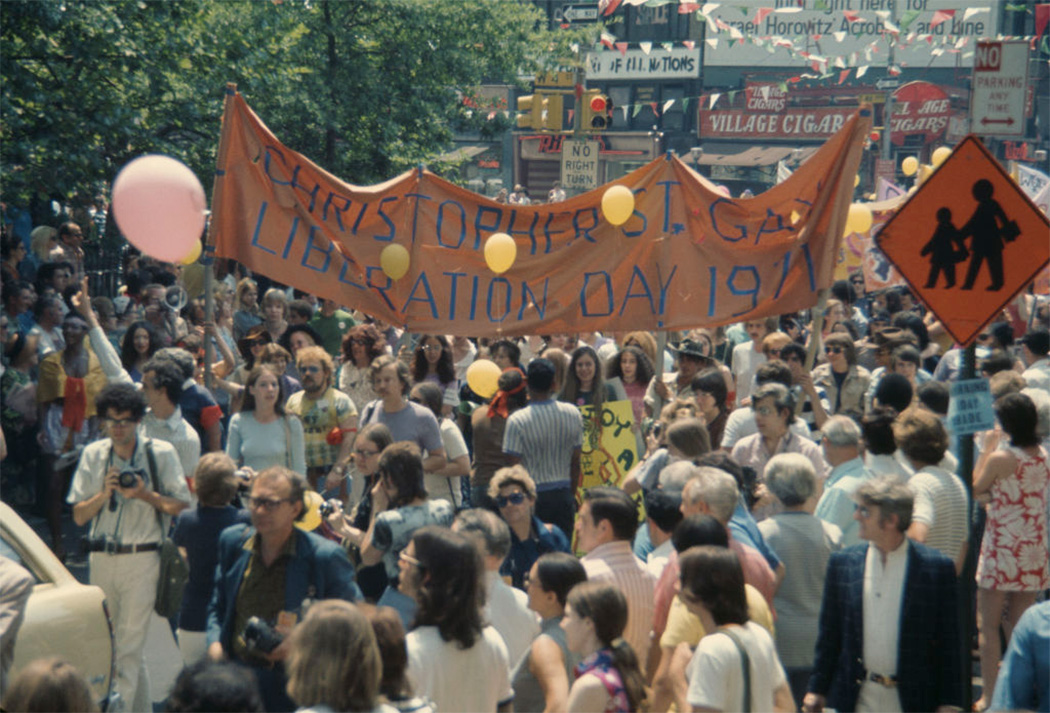 An LGBTQ parade through New York City on Christopher Street Gay Liberation Day, 1971