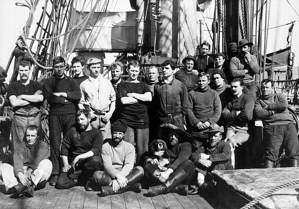 The crew of Terra Nova, Antarctica, 1912 or 1913