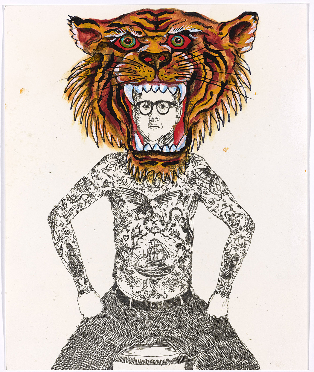 "Don Ed Hardy, ""El Tigre,"" 2009. Collection of the Artist © Don Ed Hardy. Image courtesy of Fine Arts Museums of San Francisco"
