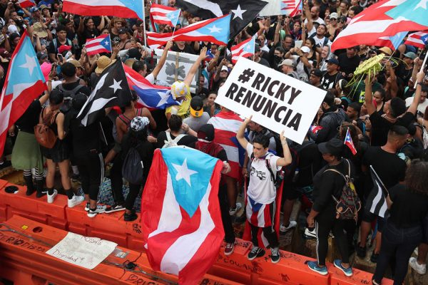 Protesters Demand Resignation Of Puerto Rico's Governor Ricardo Rossello, July 22, 2019