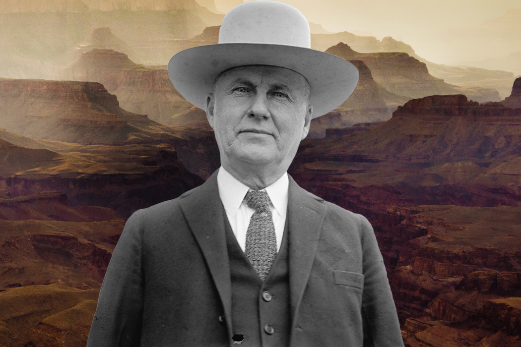 Ralph H. Cameron in front of the Grand Canyon