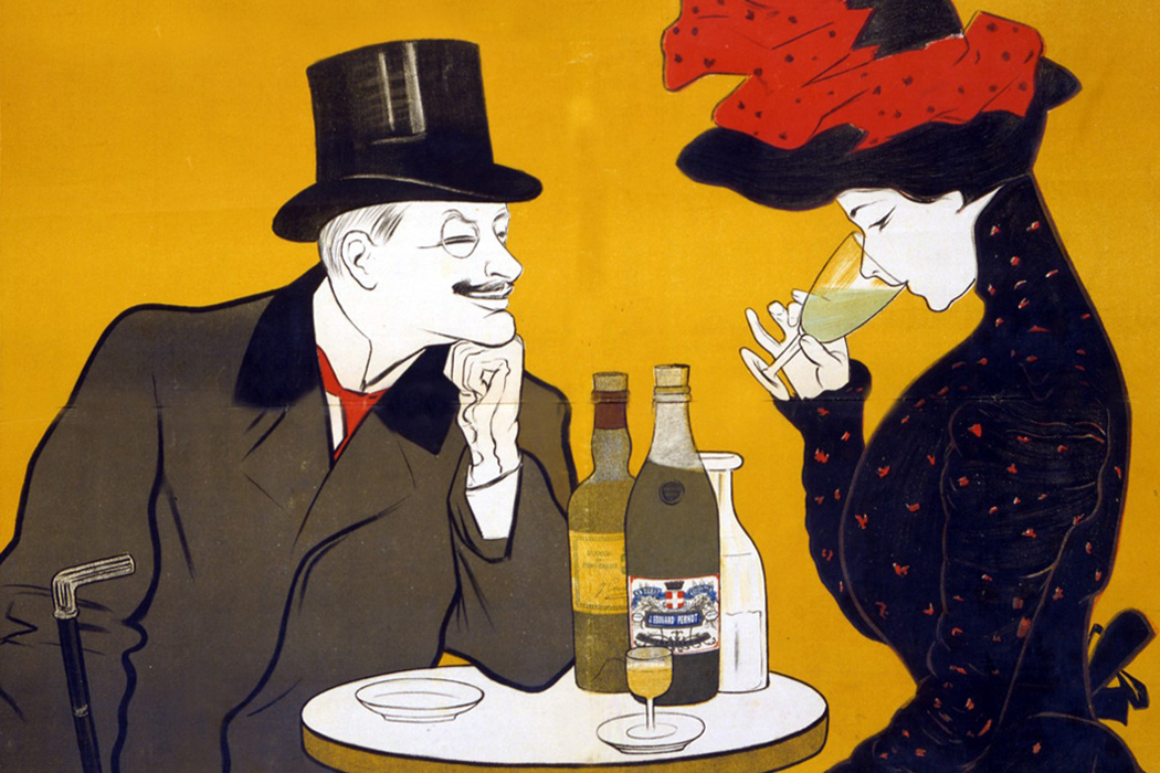 An advertisement for Pernot Liqueur