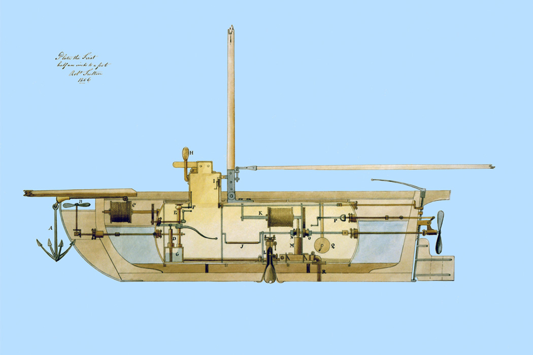 A submarine for the US government, 1806.