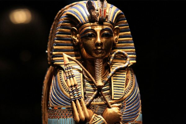 A coffinette for the viscera of Tutankhamun